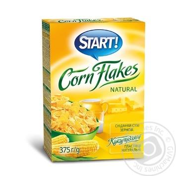 Пластівці Start кукуруздяні натуральні 375г - купити, ціни на Novus - фото 2