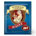 Instant strong coffee drink Petrovskaya Sloboda 3in1 stick sachet