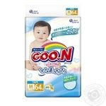 Diapers GOO.N for children from 6 to 11kgs M-size on tapes unisex 64pcs