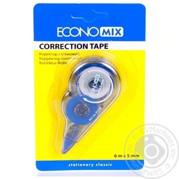 Корректор-ленточный Economix 5мм*6м - купить, цены на Ашан - фото 1