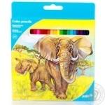 Олівці кольорові Kite Тварини 24 шт
