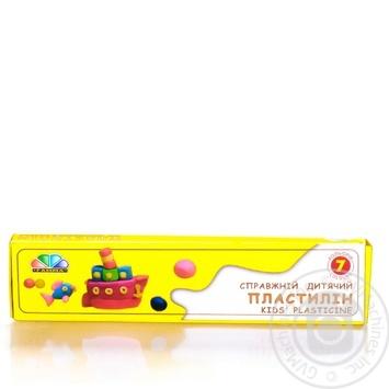 Пластилин Гамма Любимые игрушки 7 цветов 70г