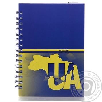 Книга для нотаток на пружині Buromax А6 96 аркушів клітинка ламінація BM.2422