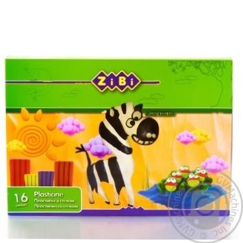 Пластилин ZiBi ZB.6205 16 цветов со стеком 320г