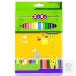 Олівці кольорові ZiBi 18 кольорів