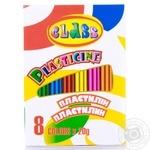 Plasticine Class Schools 8colors for schools 8pcs 160g Ukraine