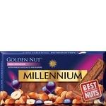 Шоколад Millennium Golden Nut молочный с цельными лесными орехами и изюмом 100г