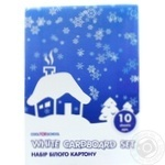 Набор белого картона Cool for School белый 10 листов 21001