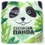 Папір туалетний Сніжна панда Бамбук 4шт/уп