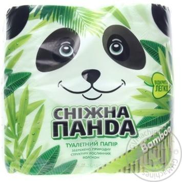 Бумага туалетная Сніжна панда Бамбук 4шт/уп