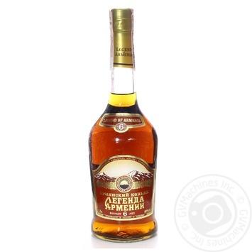 Lehenda Armenii 6 yrs cognac 40% 0,5l - buy, prices for Novus - image 1