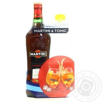 Набор: вермут Mартини Россо красный десертный 15% 0,5 л + Тоник Schweppes 0,5л - купить, цены на Novus - фото 1