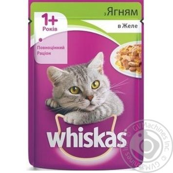 Whiskas With Lamb Meat In Jelly For Cats Food - buy, prices for Furshet - image 4