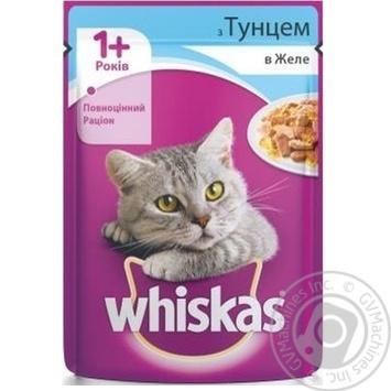 Корм для взрослых котов Whiskas с тунцом в желе 100г - купить, цены на Метро - фото 3
