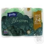 Бумага туалетная Grite Blossom 24шт/уп