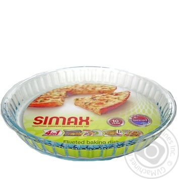 Simax Baking Dish of heat-resistant glass round corrugated 28X4cm - buy, prices for Novus - image 1