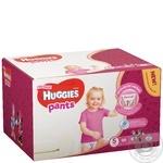 Подгузники-трусики Huggies для девочек 5 12-17кг 68шт/уп
