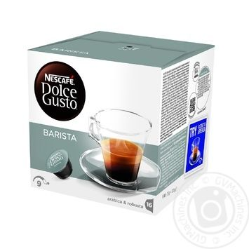 Кофе Nescafe Dolce Gusto Эспрессо Бариста в капсулах 16х7.5г
