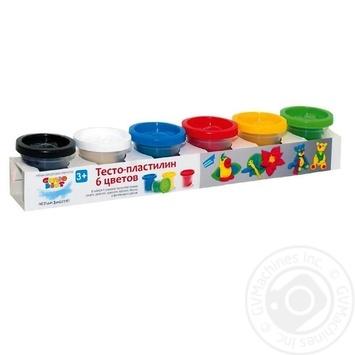 Н-р д/детск творч Genio Kids тесто-пластилин 6цвет шт