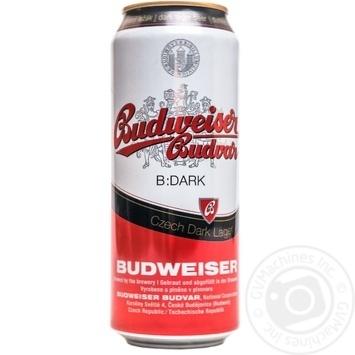 Пиво Budweiser Budvar 4.7% темное ж/б 0,5л - купить, цены на МегаМаркет - фото 1