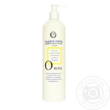 Гель O'roni для інтимної гігієни з екстрактом ромашки 500мл - купити, ціни на МегаМаркет - фото 1