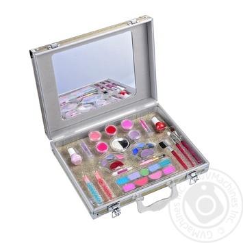 Кейс One Two Fun Моя чемодан для макияжа с косметикой и зеркалом