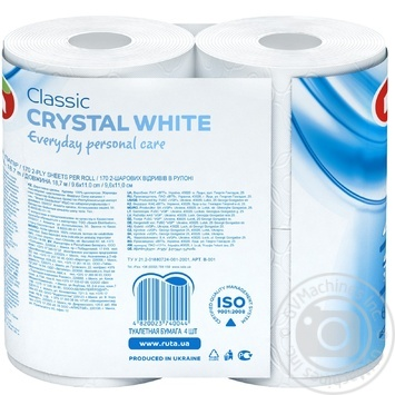 Toilet paper Ruta Classic white 2-ply 4pcs - buy, prices for Novus - image 3