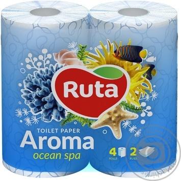 Toilet paper Ruta Aroma Violet blue 2-ply 4pcs - buy, prices for Novus - image 1