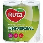 Paper towels Ruta Universal white 2-ply 2pcs - buy, prices for MegaMarket - image 1