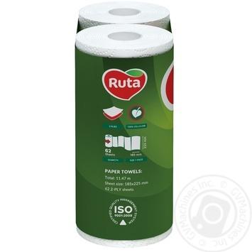 Полотенца бумажные Рута белые 2сл 2шт - купить, цены на Фуршет - фото 3