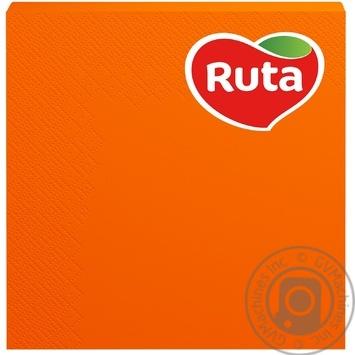 Серветки Ruta  Колор 20л. оранжеві - купити, ціни на МегаМаркет - фото 1