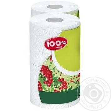 Бумага туалетная 100% Paper белая 2-слойная 4шт - купить, цены на Novus - фото 3