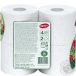 Бумага туалетная 100% Paper белая 2-слойная 4шт - купить, цены на Novus - фото 2