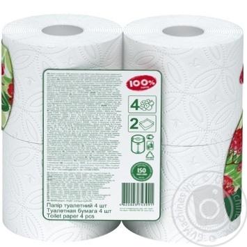 Бумага туалетная Рута 100% Папер белая 4шт - купить, цены на Novus - фото 2