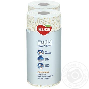 Полотенца бумажные Рута Селекта 3сл 2шт - купить, цены на Novus - фото 2
