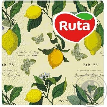 Салфетки Ruta Art Кухня Микс двухслойные 33х33см 20шт в ассортименте - купить, цены на ЕКО Маркет - фото 2