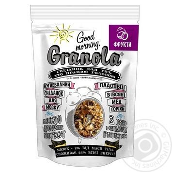 Сухой завтрак Good morning Granola с фруктами 330г - купить, цены на Novus - фото 1