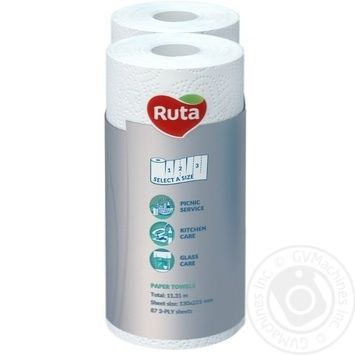 Ruta Soft&Strong White Paper Towels 3layer 2pcs - buy, prices for MegaMarket - image 3