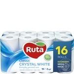 Туалетная бумага Ruta Classic двухслойная 16шт