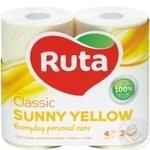 Toilet paper Ruta Aroma Peach yellow 2-ply 4pcs - buy, prices for Novus - image 1