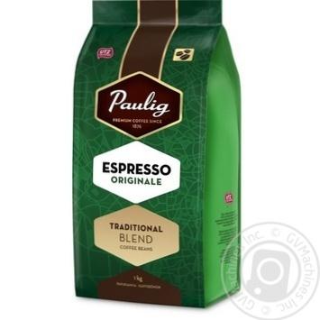 Кофе Паулиг Эспрессо Ориджинал натуральный жареный в зернах 1000г