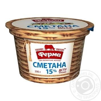 Ferma Sour Cream 15% 200g - buy, prices for MegaMarket - image 1