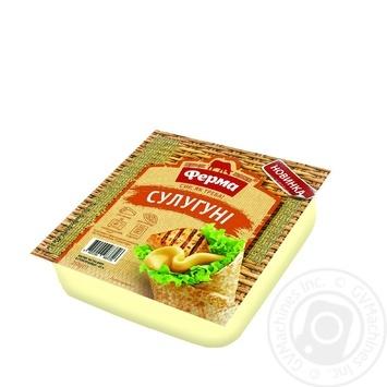 Сыр Ферма Сулугуни мягкий 250г - купить, цены на Фуршет - фото 1