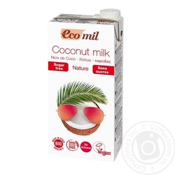 Растительное молоко Ecomil из кокоса без сахара органическое 1л - купить, цены на Novus - фото 1
