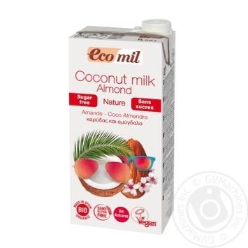 Растительное молоко Ecomil Кокос-миндаль без сахара органическое 1л - купить, цены на Novus - фото 1