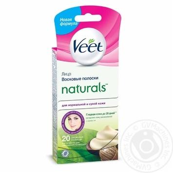 Восковые полоски для эпиляции Veet Naturals с маслом ши 20шт