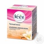 Воск Veet для депиляции с эфирными маслами с многоразовыми полосками 12шт 250мл