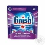 Средство Finish Quantum для мытья посуды в посудомоечных машинах в таблетках 40шт