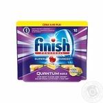 Засіб для миття посуду в посудомийних машинах Finish Quantum Powerball Max Lemon 10 шт