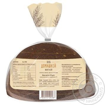 Хлеб Киевхлеб Домашний ржаной половина нарезка 450г - купить, цены на Novus - фото 2